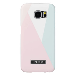 Modern Triangles Pattern | Pastel Personalized Samsung Galaxy S6 Cases