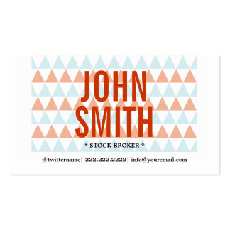 Modern Triangles Stock Broker Business Card