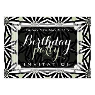 Modern Tribal Daisy Pattern Art Mini Invitations Business Card Templates