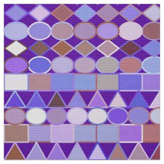 Modern Tribal Geometric, Amethyst Purple and Taupe Fabric