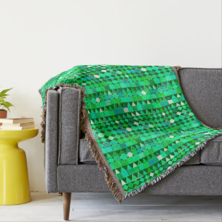 Modern Tribal Geometric, Emerald Green and Aqua
