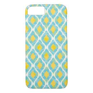 Modern tribal ikat blue yellow fashion iPhone 8/7 case
