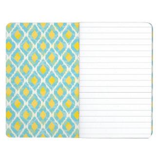 Modern tribal ikat blue yellow fashion journal