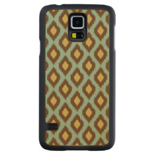 Modern tribal ikat blue yellow modern carved maple galaxy s5 case