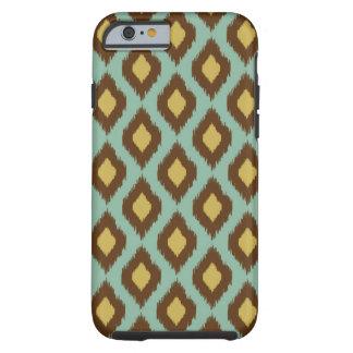 Modern tribal ikat blue yellow modern tough iPhone 6 case