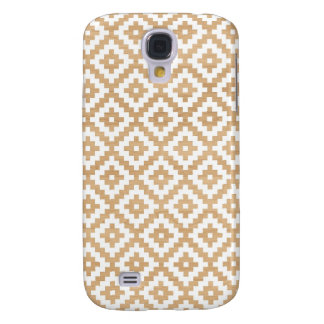 Modern tribal wood geometric chic andes pattern galaxy s4 case