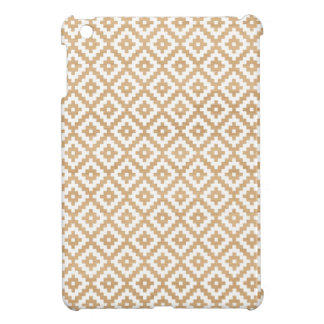 Modern tribal wood geometric chic andes pattern iPad mini case