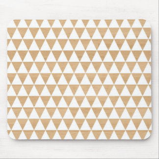 Modern tribal wood geometric chic andes pattern mouse mat