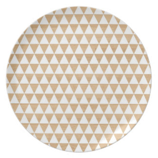 Modern tribal wood geometric chic andes pattern plate