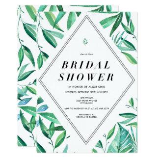 Modern Tropical Bridal Shower Invitation