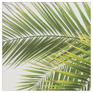 Modern tropical palm tree leaves fabric