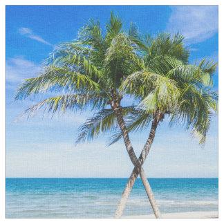 Modern tropical palm tree photo fabric
