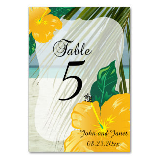 Modern Tropical Wedding  | Personalize Card