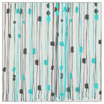 Modern turquoise black hand drawn pattern fabric