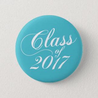 Modern Turquoise | Graduation 6 Cm Round Badge
