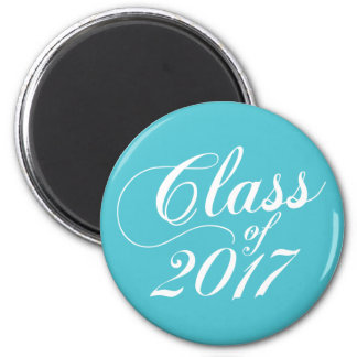 Modern Turquoise | Graduation 6 Cm Round Magnet