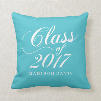 Modern Turquoise | Graduation Cushion