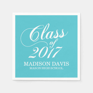 Modern Turquoise | Graduation Napkins Paper Napkins