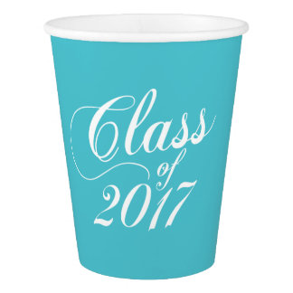 Modern Turquoise | Graduation Paper Cup