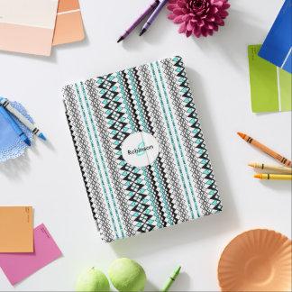 Modern Turquoise Mix Tribal Print Stripe Design iPad Cover