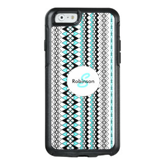 Modern Turquoise Mix Tribal Print Stripe Patterned OtterBox iPhone 6/6s Case