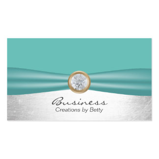 Modern Turquoise & Silver Jewelry Designer Pack Of Standard Business Cards