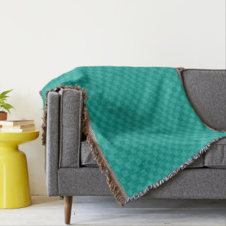 Modern Turquoise Teal Check Pattern Home Decor