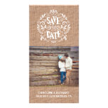 MODERN TYPOGRAPHY | BURLAP | SAVE THE DATE CARD PERSONALIZED PHOTO CARD