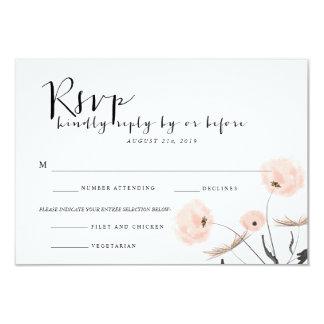Modern Typography Dandelion Wedding RSVP Card 9 Cm X 13 Cm Invitation Card
