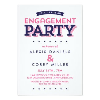 Modern Typography Engagement Party
