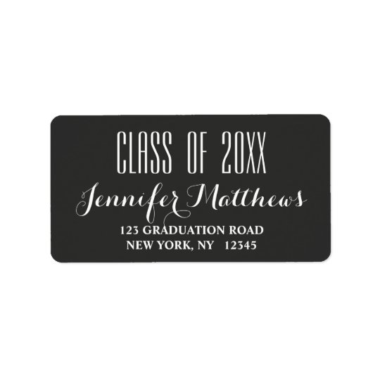 Modern Typography | Graduation Address Label