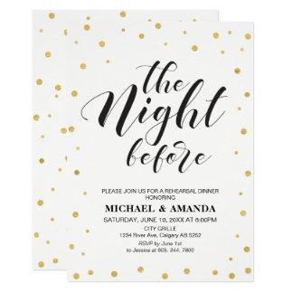 Modern Typography Wedding Rehearsal Dinner Card