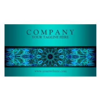 modern Underwater Beauty mandala blue Business Card Template