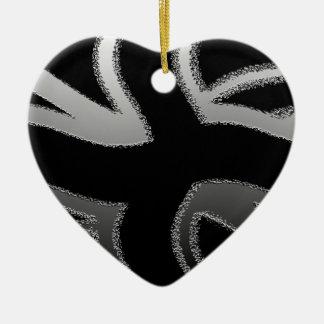 Modern Union Jack Flag Wave  Design Christmas Ornament