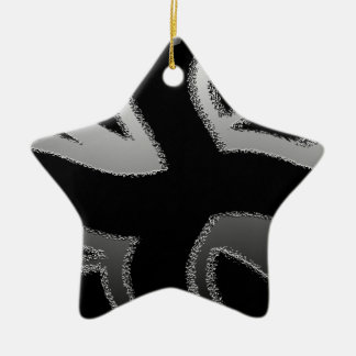 Modern Union Jack Flag Wave  Design Christmas Ornament