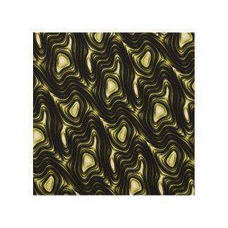 Modern Unique Abstract Green Glow Liquid Pattern Wood Print
