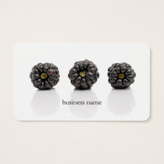 Modern Unique Blackberry Fruit Health Coach Business Card
