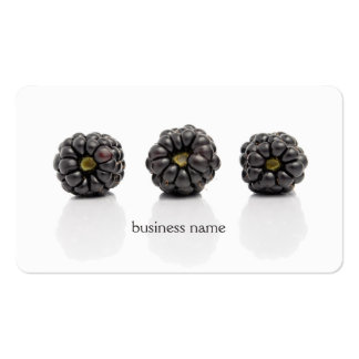 Modern Unique Blackberry Fruit Health Coach Pack Of Standard Business Cards