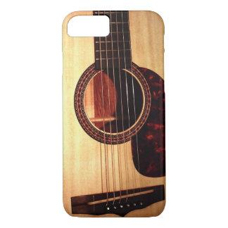 Modern Unique Classic Acoustic Guitar Musician iPhone 8/7 Case