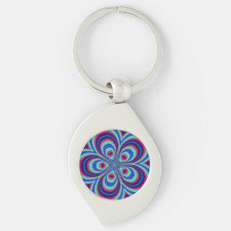 Modern unique colorful art key chains