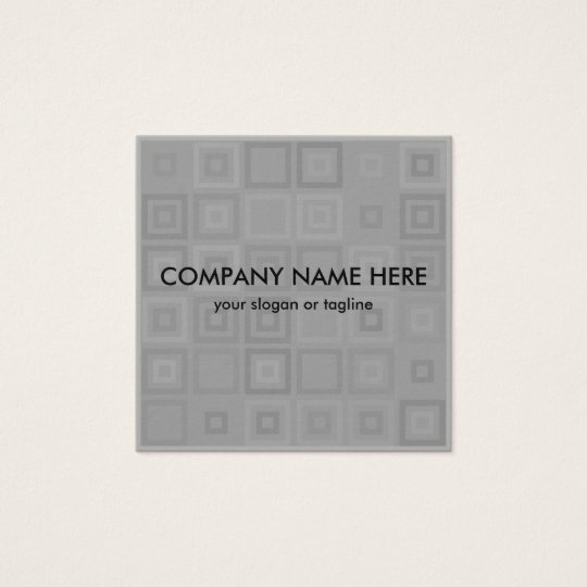 Modern Unique Geometric Two Side Design Square Business Card