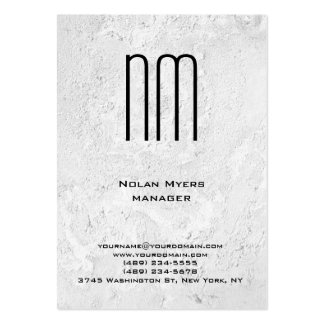Modern unique grey wall texture monogram pack of chubby business cards