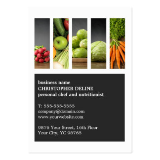 Modern Unique Vegetable Personal Chef Nutritionist Pack Of Chubby Business Cards