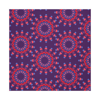Modern Urban Hearts Violet Pattern Gallery Wrap Canvas
