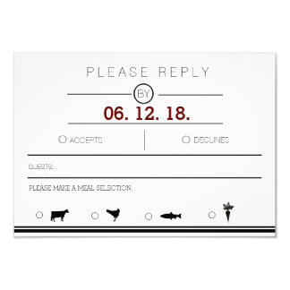 Modern & Urban Minimalist | Black & White RSVP 9 Cm X 13 Cm Invitation Card