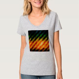 Modern Urban Vivid Striped Warning T Shirts