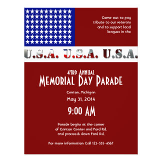 Modern USA Flag Graphic Memorial Day 21.5 Cm X 28 Cm Flyer