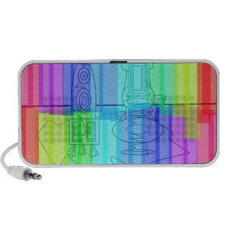Modern vases transparent rainbow portable speakers