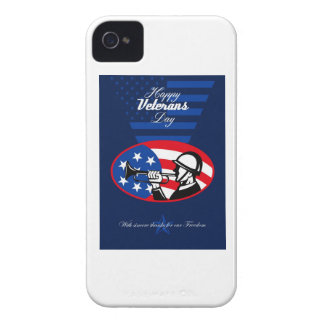 Modern Veterans Day American Soldier Greeting Card Blackberry Cases