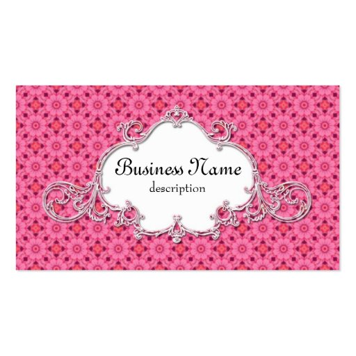 Modern Victorian Pink Flowers Business Cards